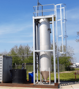 Figure   High Rate Prefiltration sand filter at the WWTP demo site in Leeuwarden